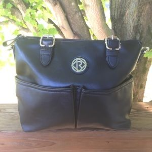 Nice Black Faux Leather Relic Bag
